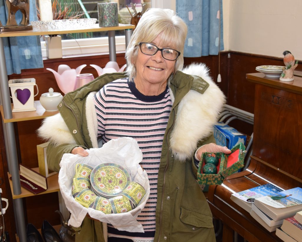 Some Chinese-style were among the items for sale at the bric-a-brac stall, run by Jen McGrory.