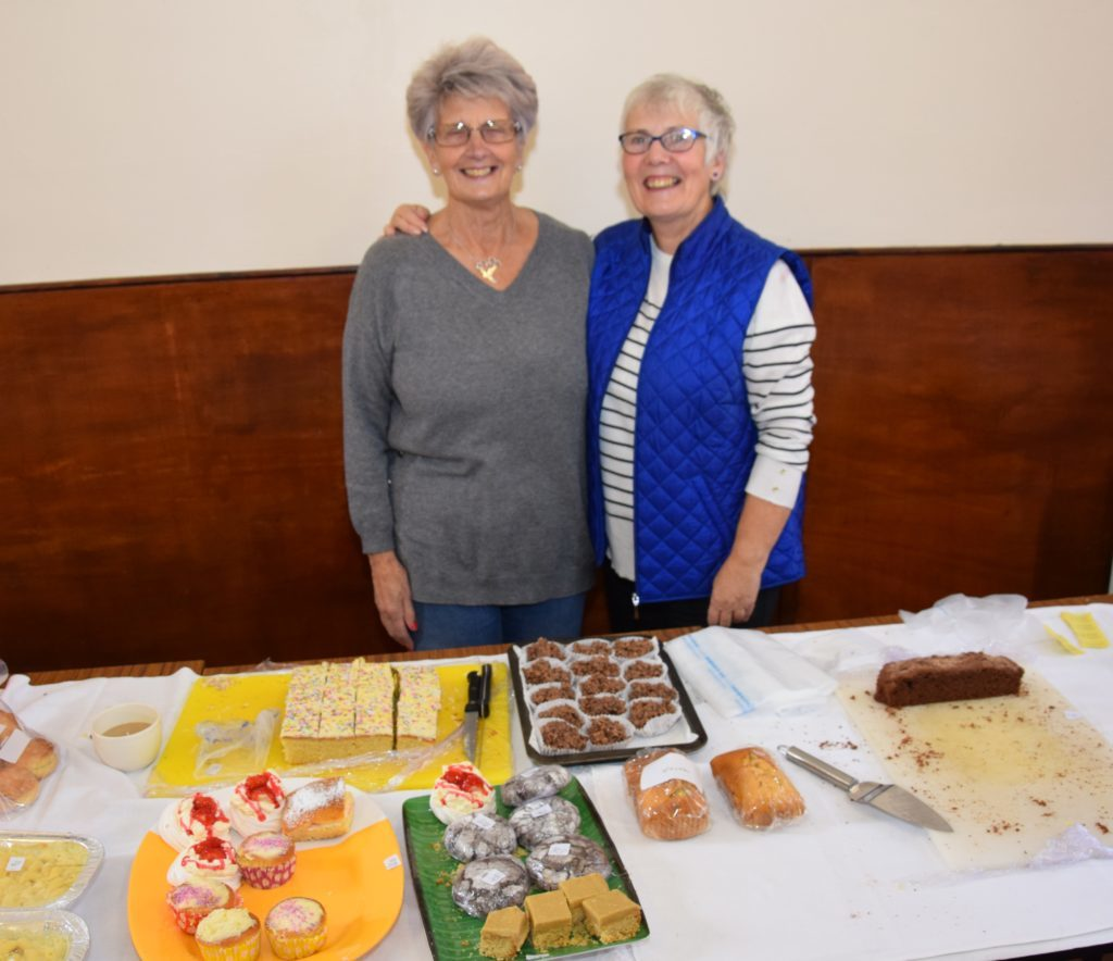 Margaret Wilson and Anne Skillen kept the baking stall running smoothly.