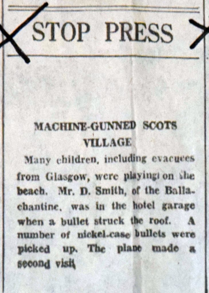 Another report of the bullets falling as children played on the beach.
