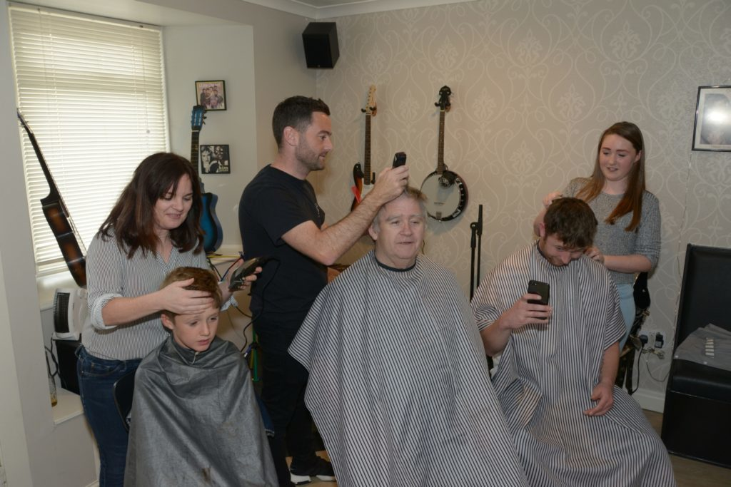 The headshavers in action