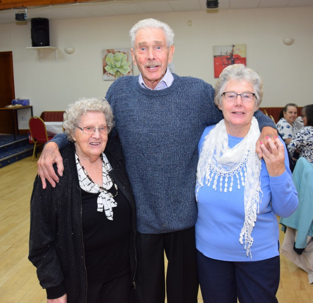 Anne Thomson enjoyed a dance with her cousin Archie Fraser and his partner Lilias Nixon, who travelled from Johnstone.