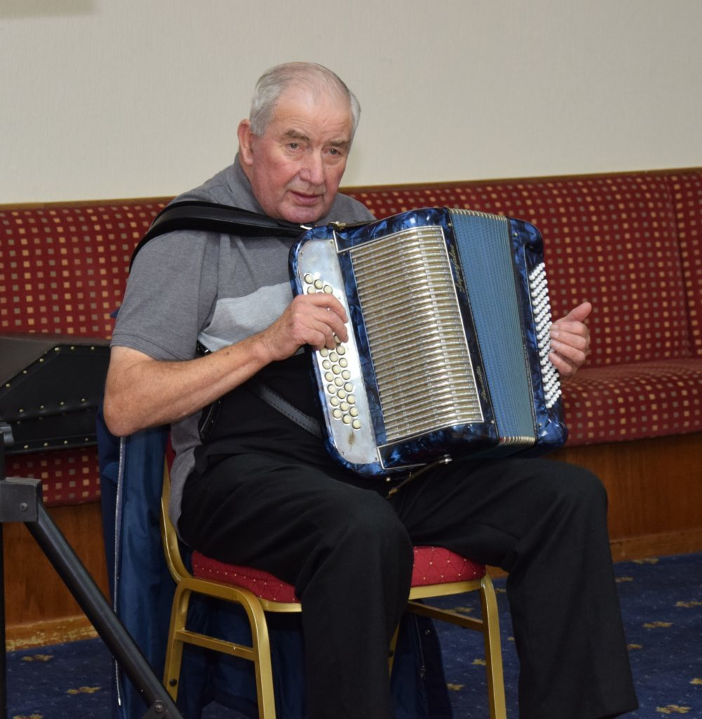 Accordionist Alex MacKinnon.