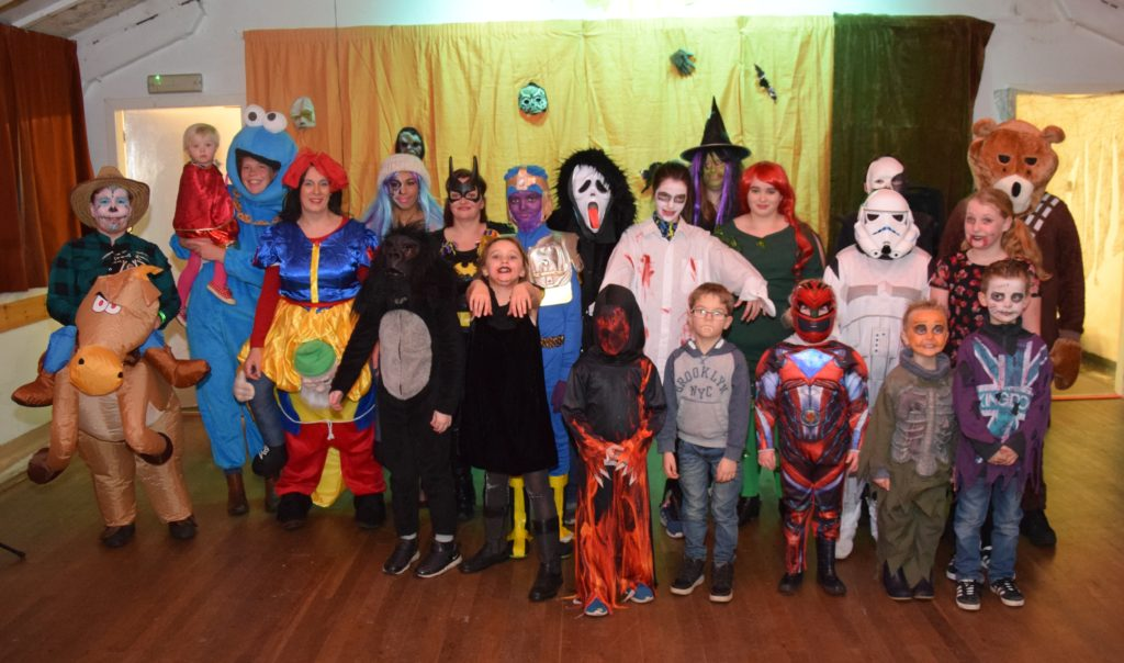 The entrants who took part in the spooky Hallowe'en parade.