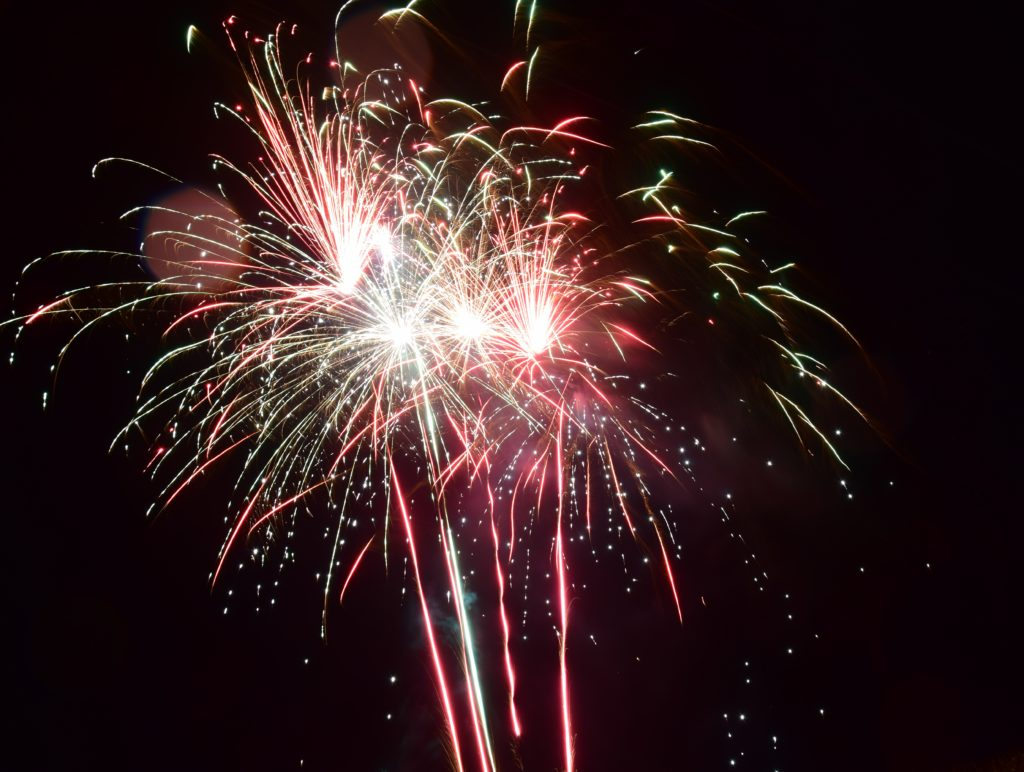 A fireworks display completed the event in style.