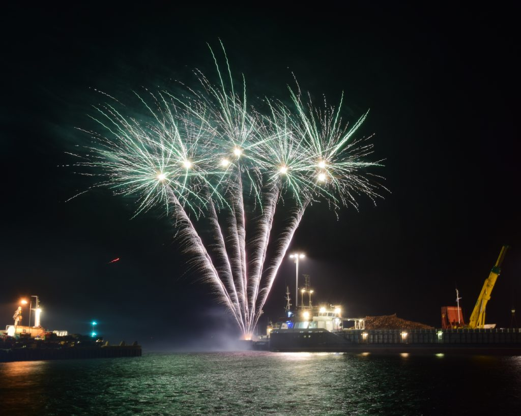 It was an explosive show from the New Quay.