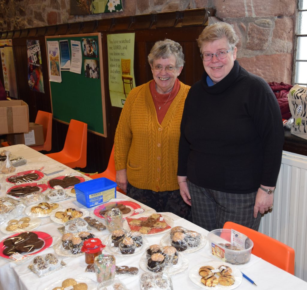 Violet Craig and Sharon Denton sold a range of home baking at the RNLI fundraiser.