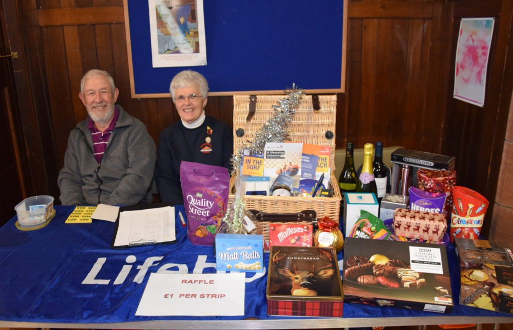 There was a massive hamper at the RNLI coffee morning.