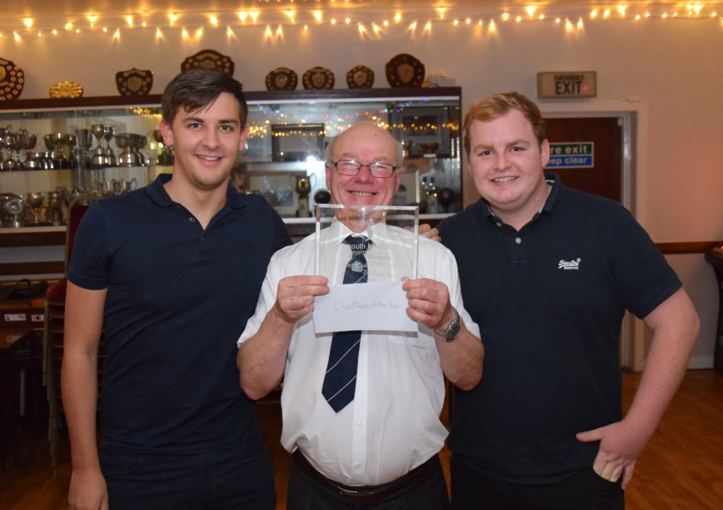 Lee Allen, Donny McCrimmon and Gavin Mclachlan from Argyll Bowling Club which was named club/team of the year.