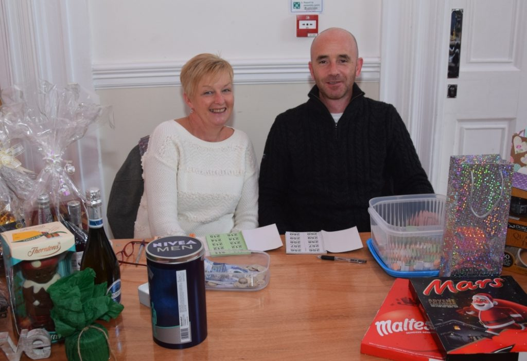 Co-op employee Helen Kerr and her partner Ricky Tonner ran the raffle stall.