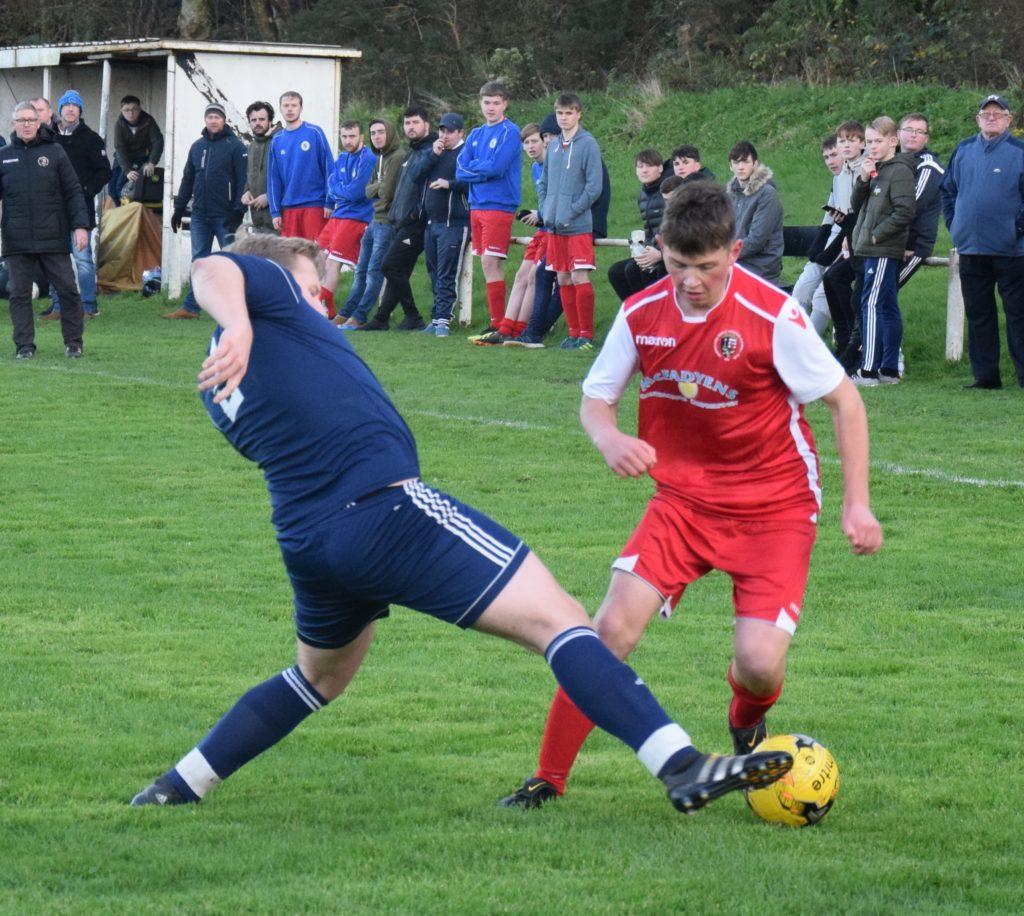Fraser MacBrayne in action against Claremont.