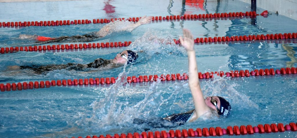 One of the backstroke events.