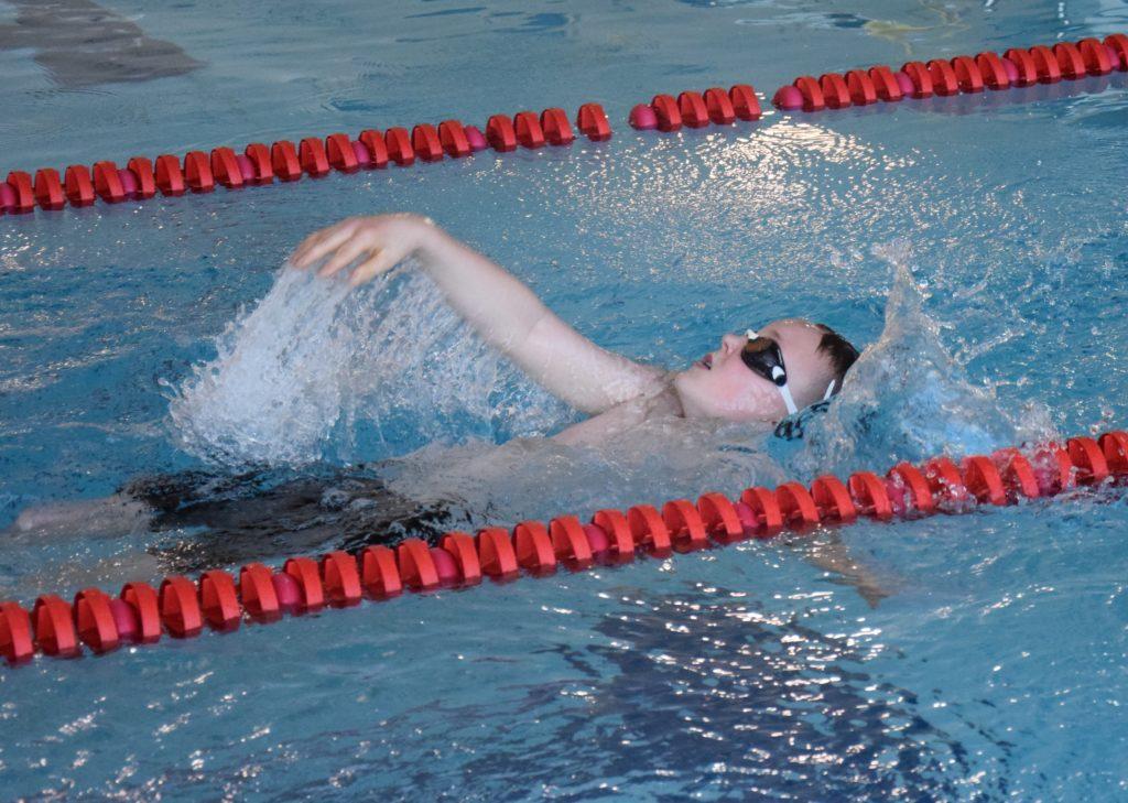 A backstroke race.