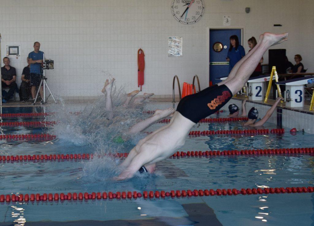 Senior boys make a splash.