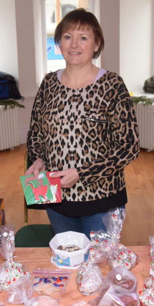 As well as baking, Joanne Gillies sold cat-shaped Christmas gift tags.