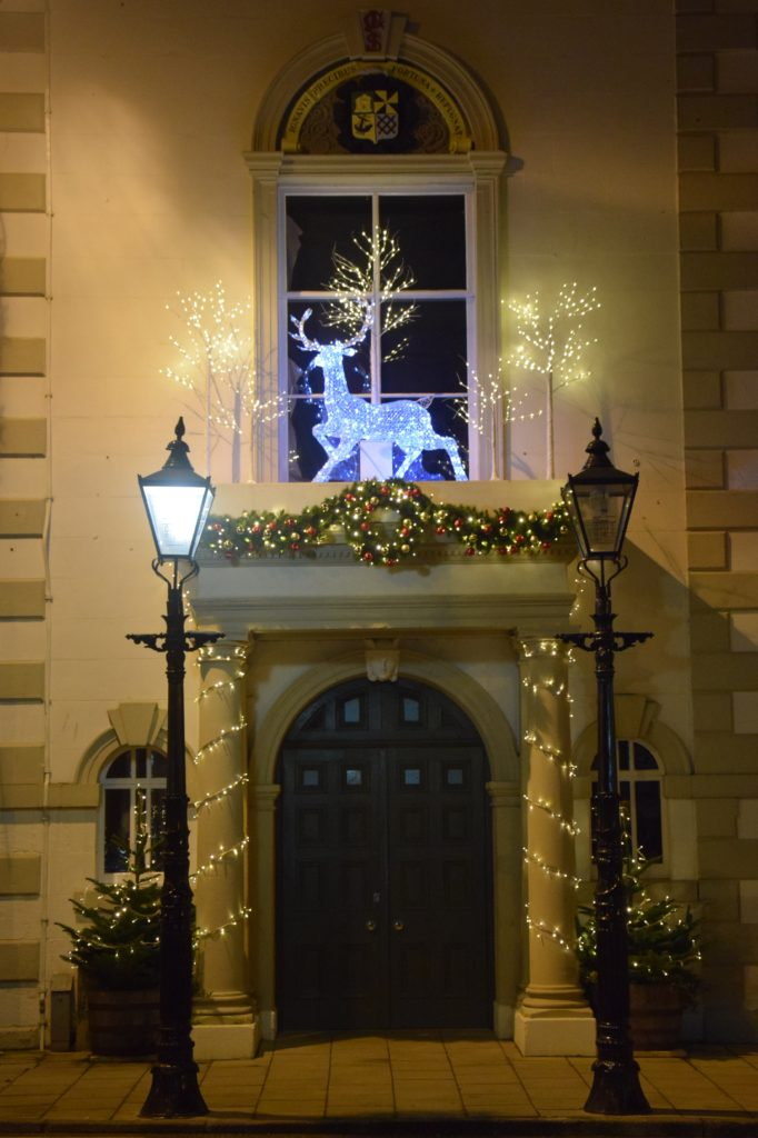 Willie Durnan transformed Campbeltown Town Hall into a winter wonderland of lights.