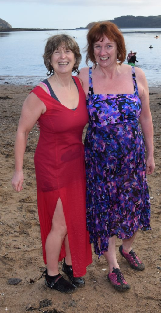 Cath Black and Mairi Cosgrove felt refreshed after the dip.
