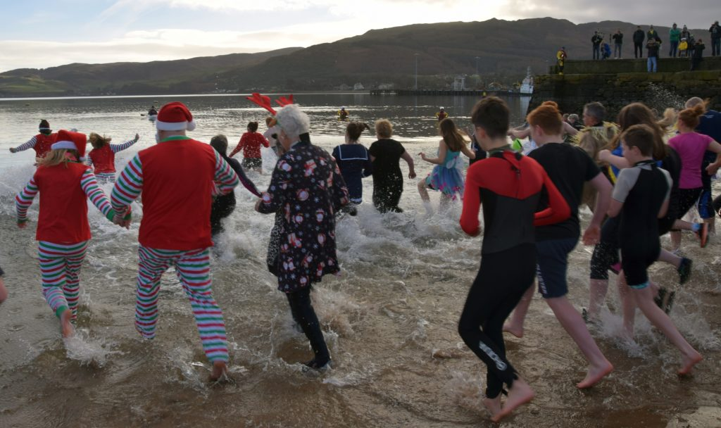 They made a splash entering Campbeltown Loch.