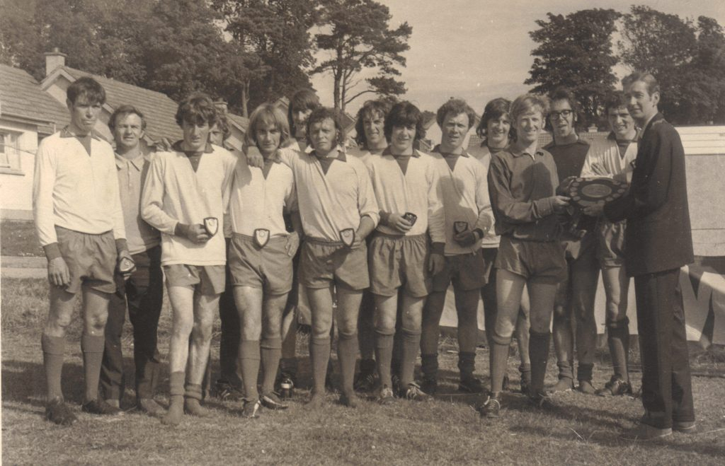 The Pupils team which won the Rothman Shield in 1971/72.