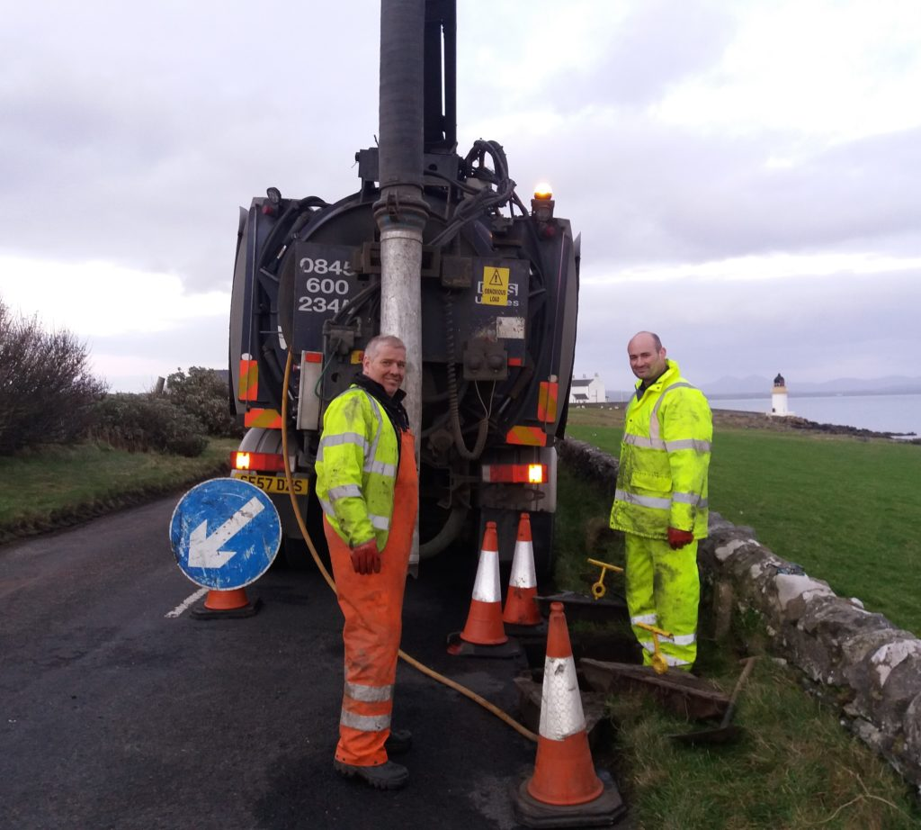 Teams were fixing the broadband connection that has caused concerns on Islay.