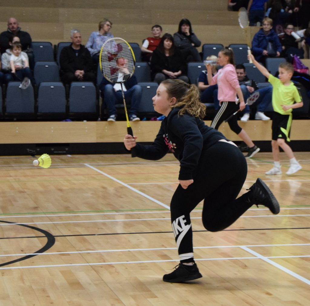 Emily McMurchy, one of the runners up in the girls' doubles, in action.