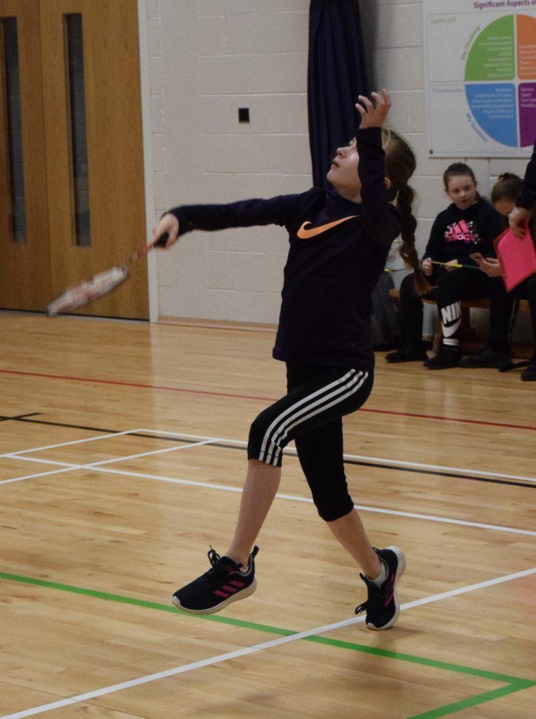 Girls' doubles winner Kirstie Renton.