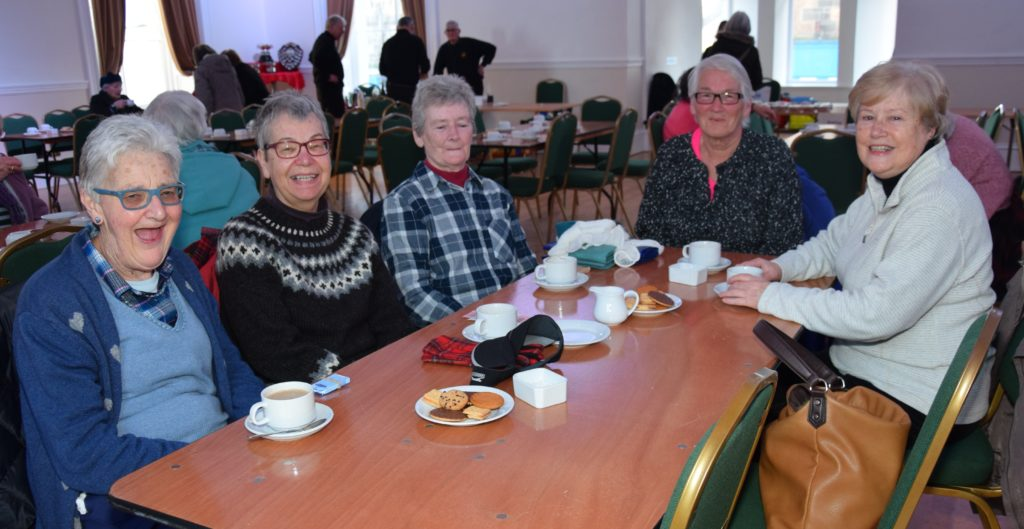 Ladies enjoy a cuppa and a catch-up.