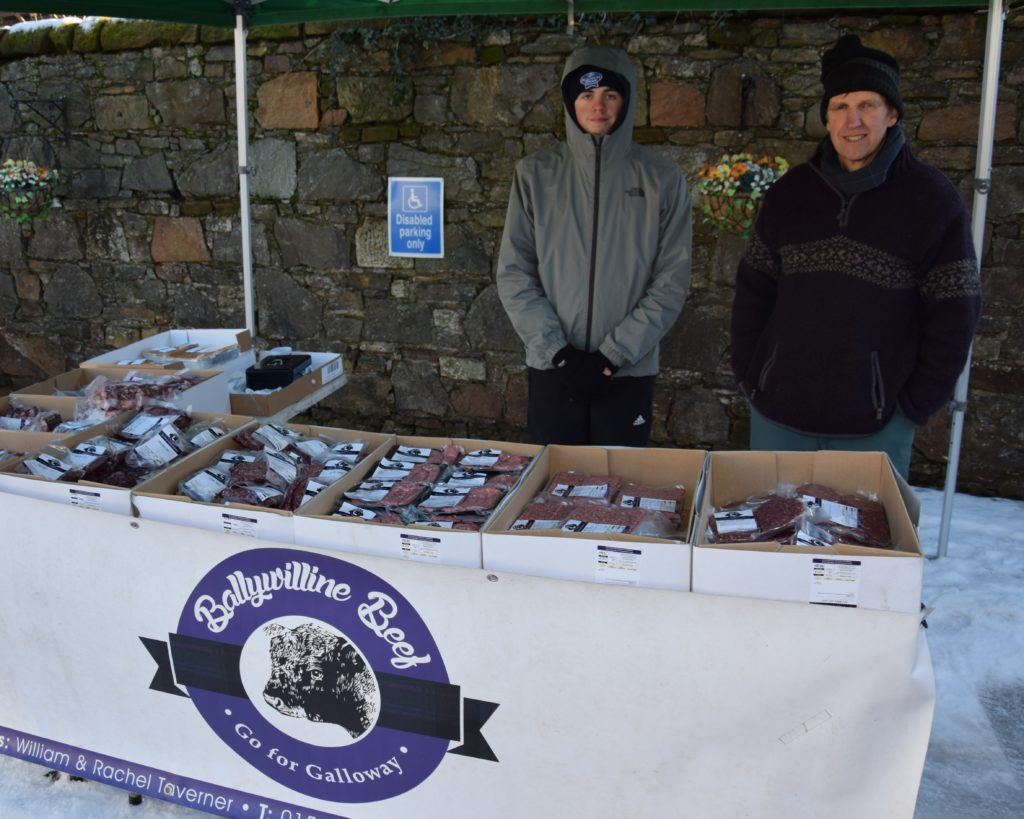 Nathan Armstrong and William Taverner sell Ballywilline beef.