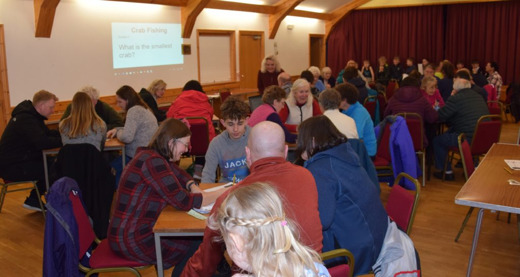 The hall was packed with quizzers