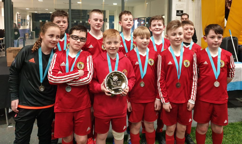 The U13s with their fair play award.