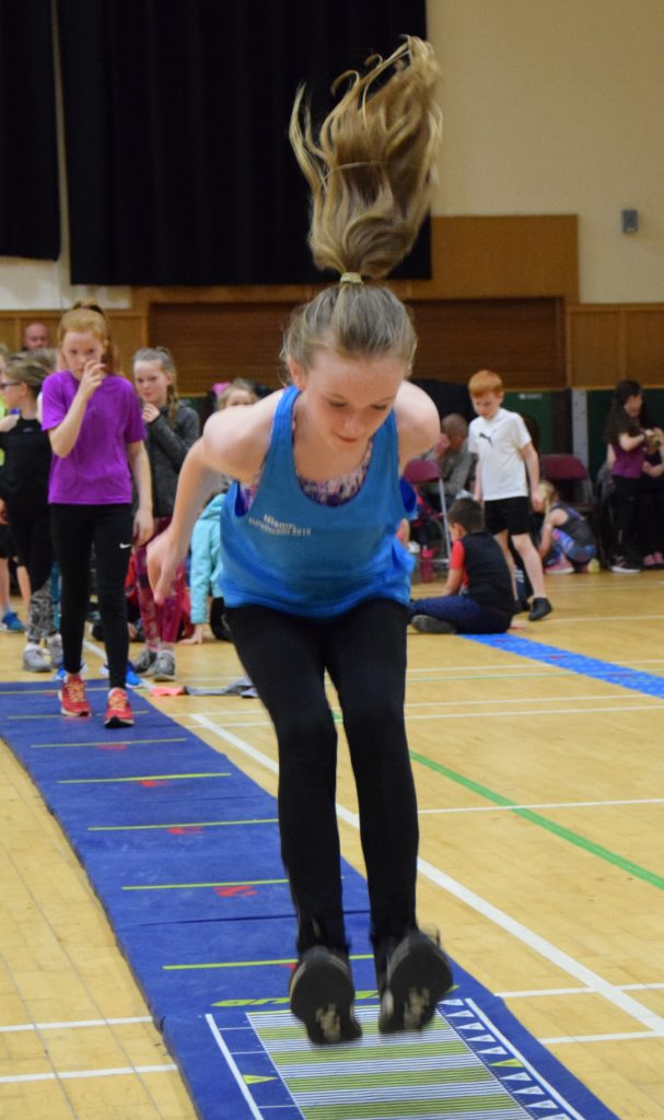Niamh Quinn in action in the triple jump.