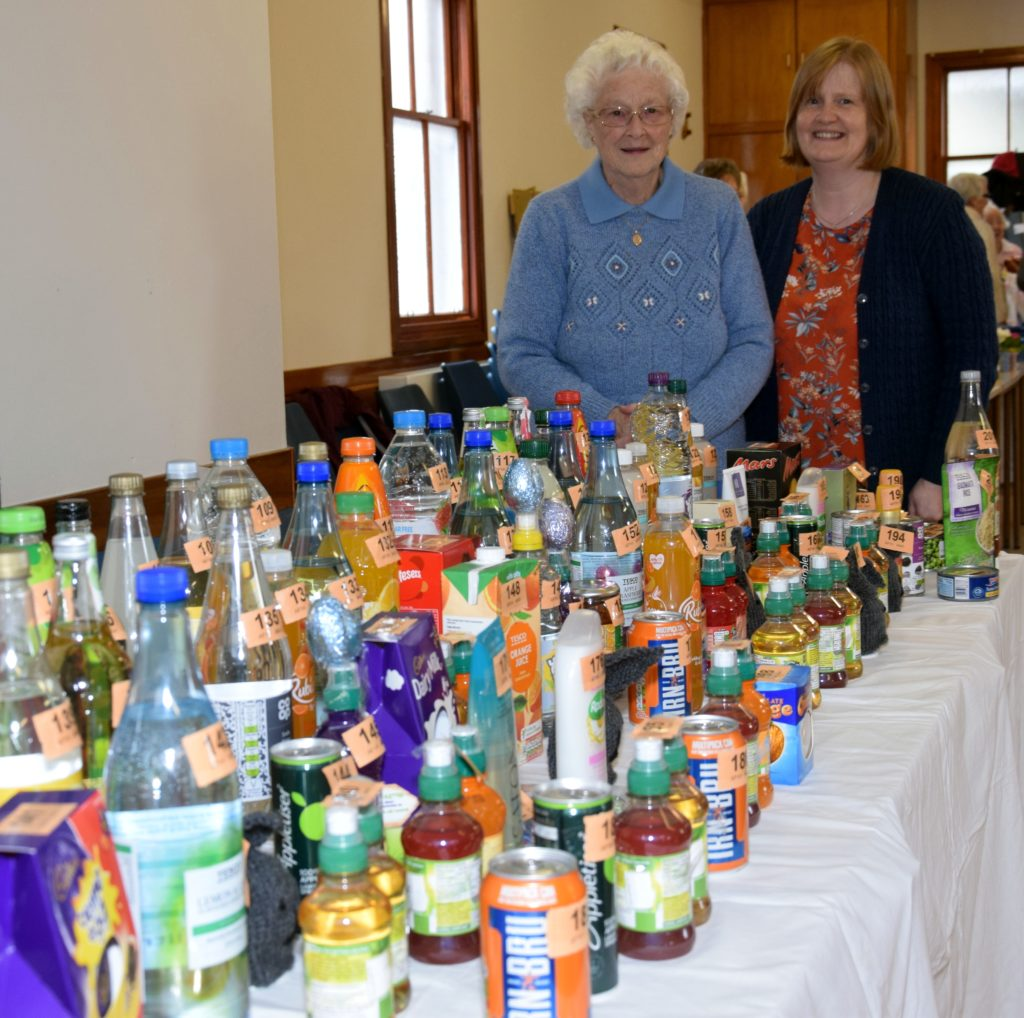 Doris Newlands and Annie Colville manned the bottle stall.