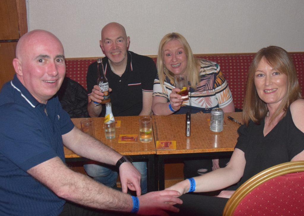 Kenny Blair, Stewart Wareham, Joanne Tiffin and Joanne Blair.