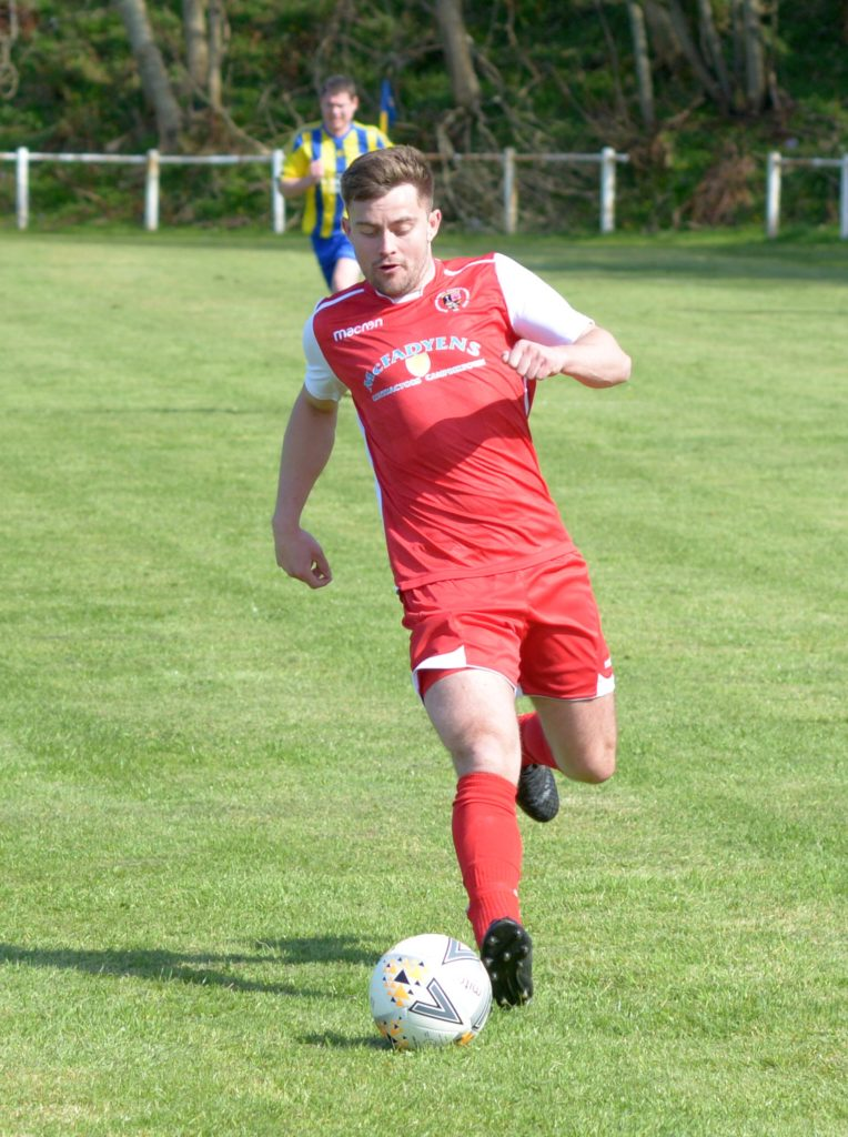 Pupils player Liam Renton in action on Saturday.