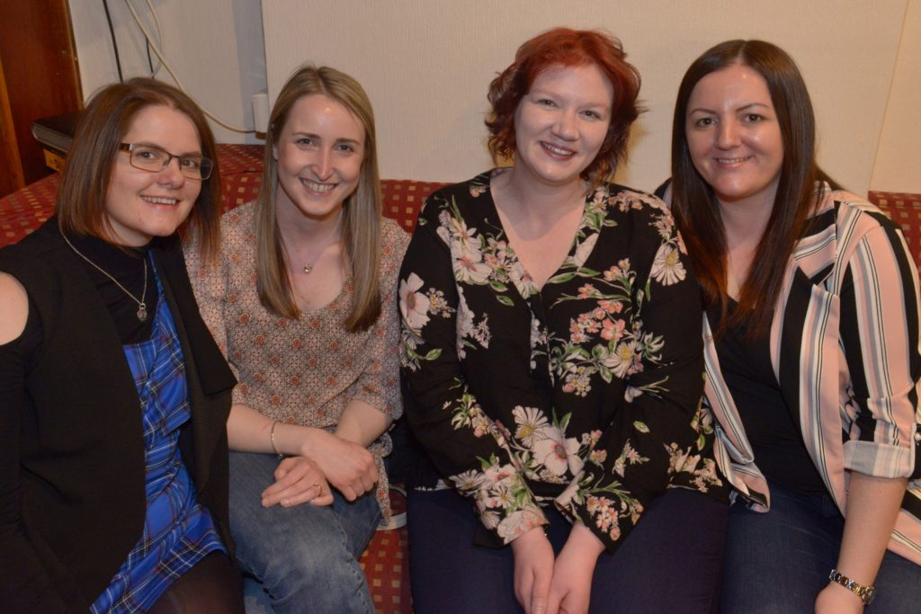 Donna McCrimmon, Laura Henderson, Jean McDougall and Lisa Maguire.