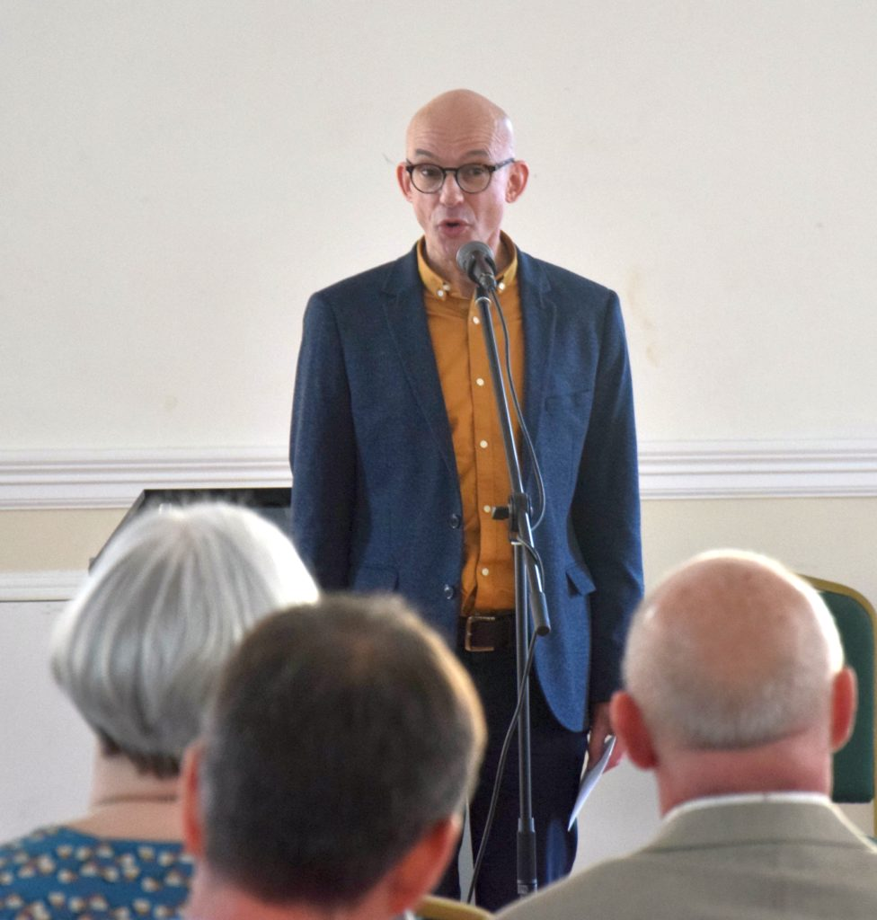Reverend Martin Hodson from the Baptist Union of Scotland.