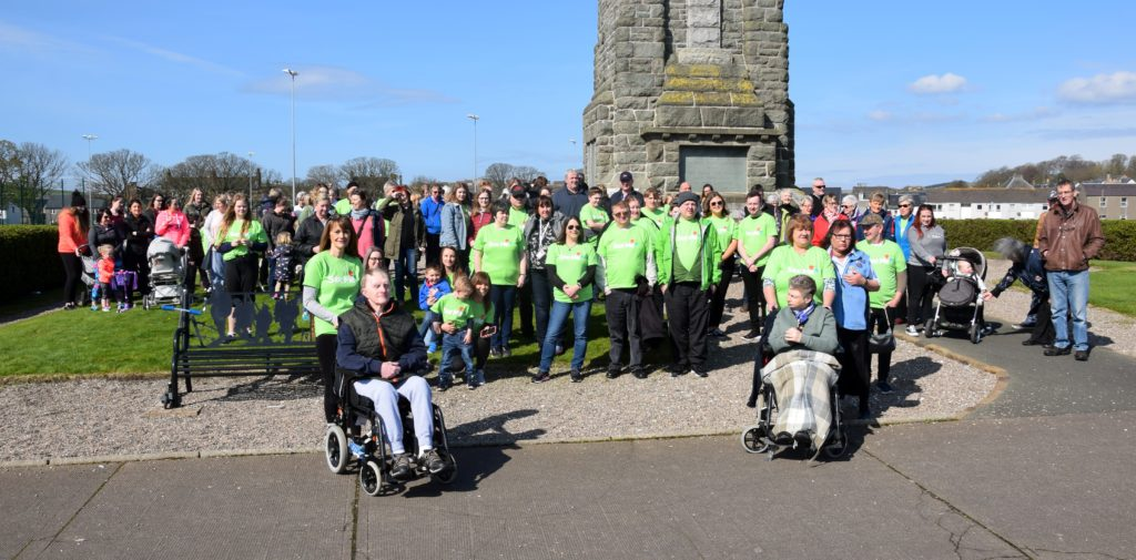 Most of the walkers ready to 'walk a mile in each other's shoes'.