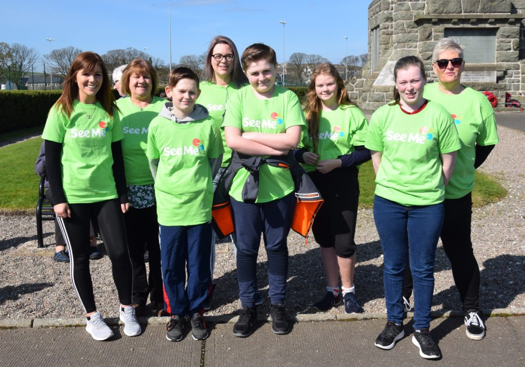 Police Scotland Youth Volunteers assisted walkers throughout the event.