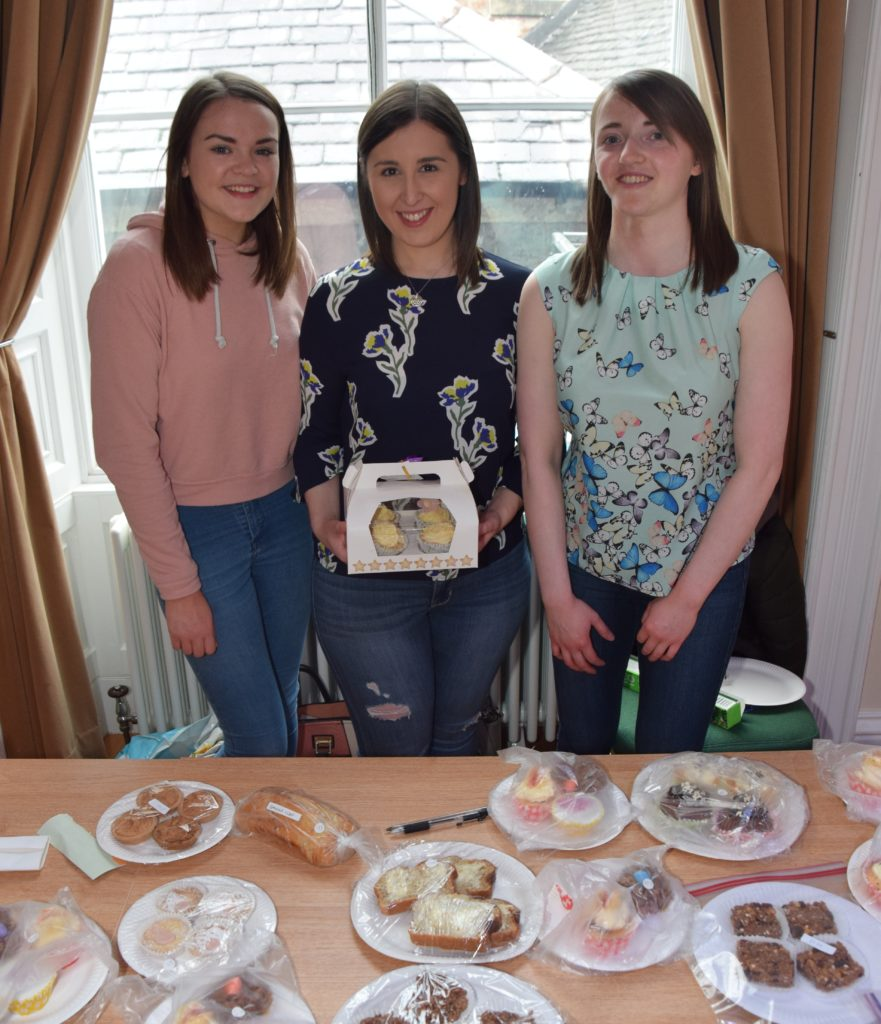 Louise Macintyre, Alison Currie and Jennifer Littleson behind the baking stall.
