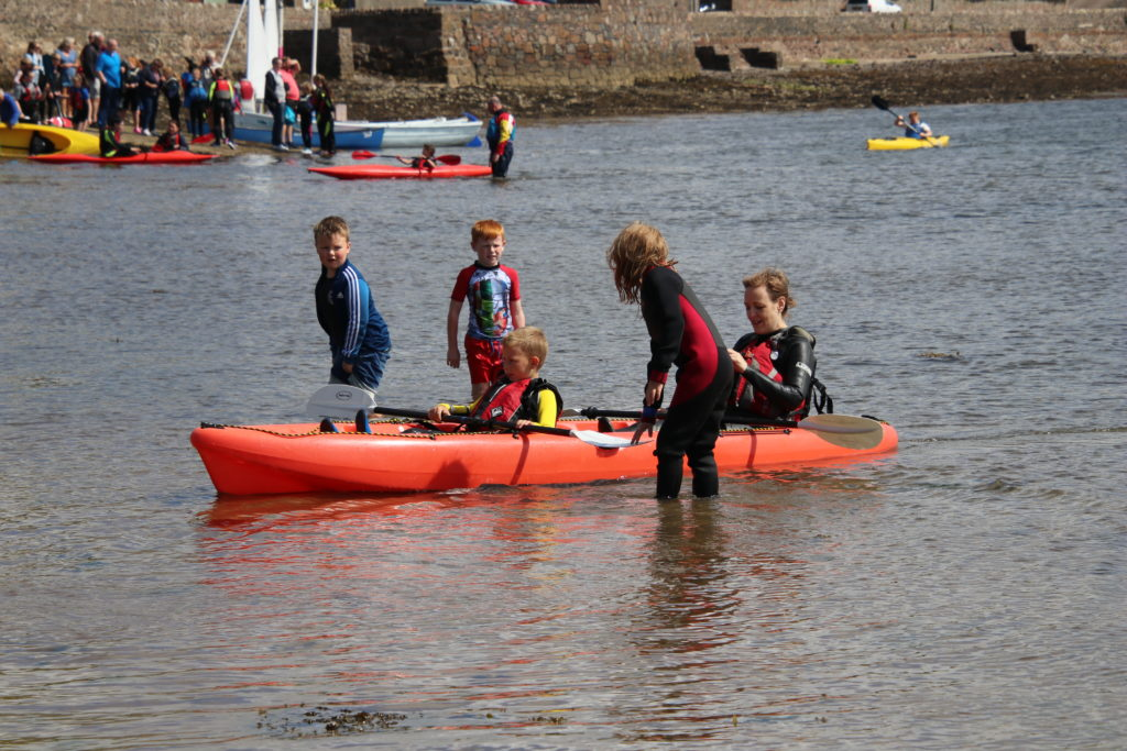 People made use of kayaks, free of charge, at last year's event.