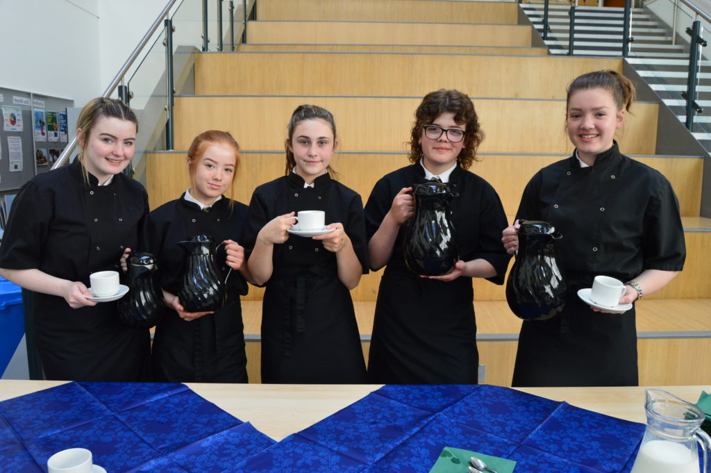 When guests arrived at the school, they were welcomed with teas and coffees by Jenny Souden, Casey MacKenzie, Ashleigh McAulay, Caryn Kerr and Jane Scott.