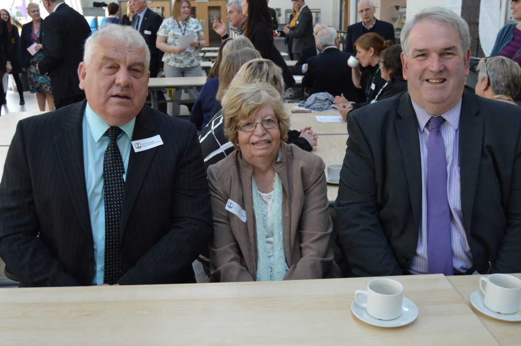 Councillors Donald Kelly, Anne Horn and John Armour.