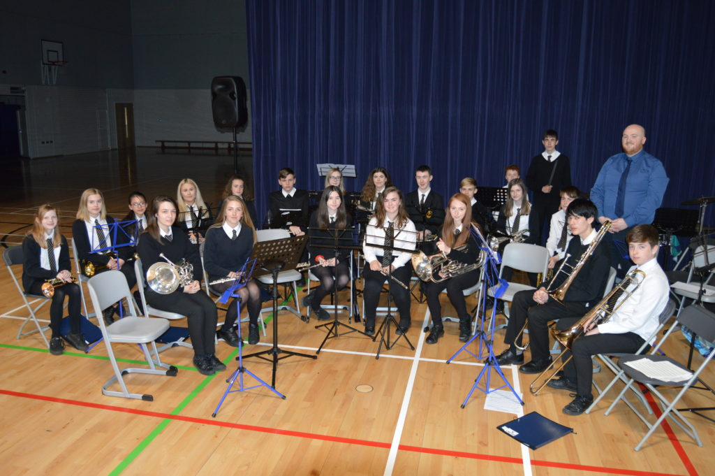 The brass ensemble.