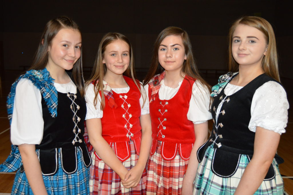 Students  Sarah Campbell, Solana McMurchy, Chloe Anderson, and Erin Binnie are also pupils of the James McCorkindale School of Dance and performed at the opening ceremony.