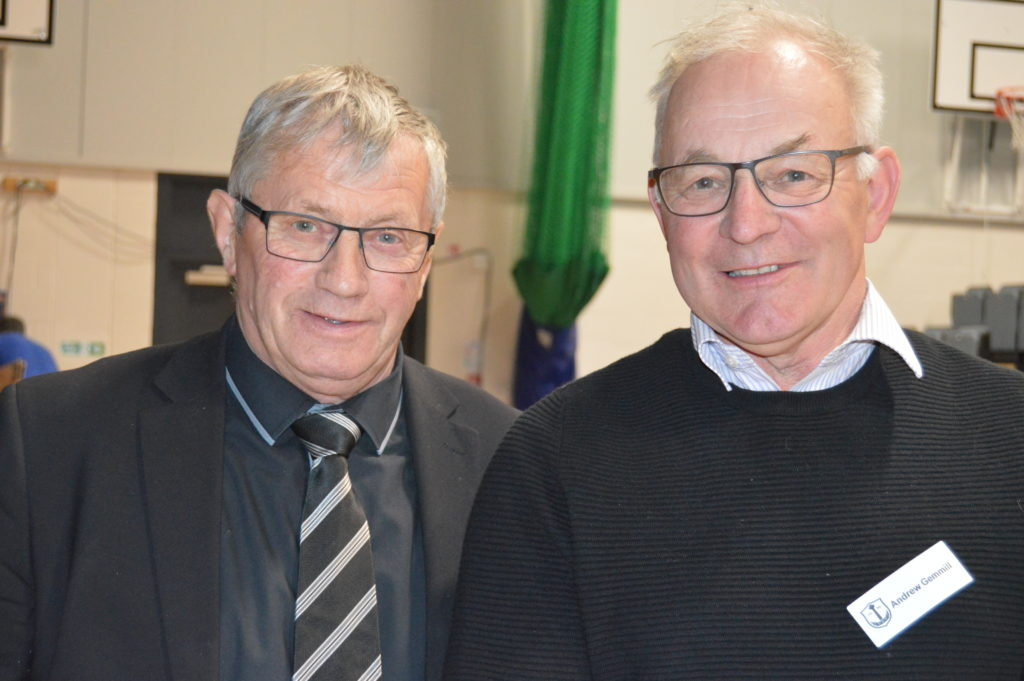 Councillor Rory Colville and Andrew Gemmill.