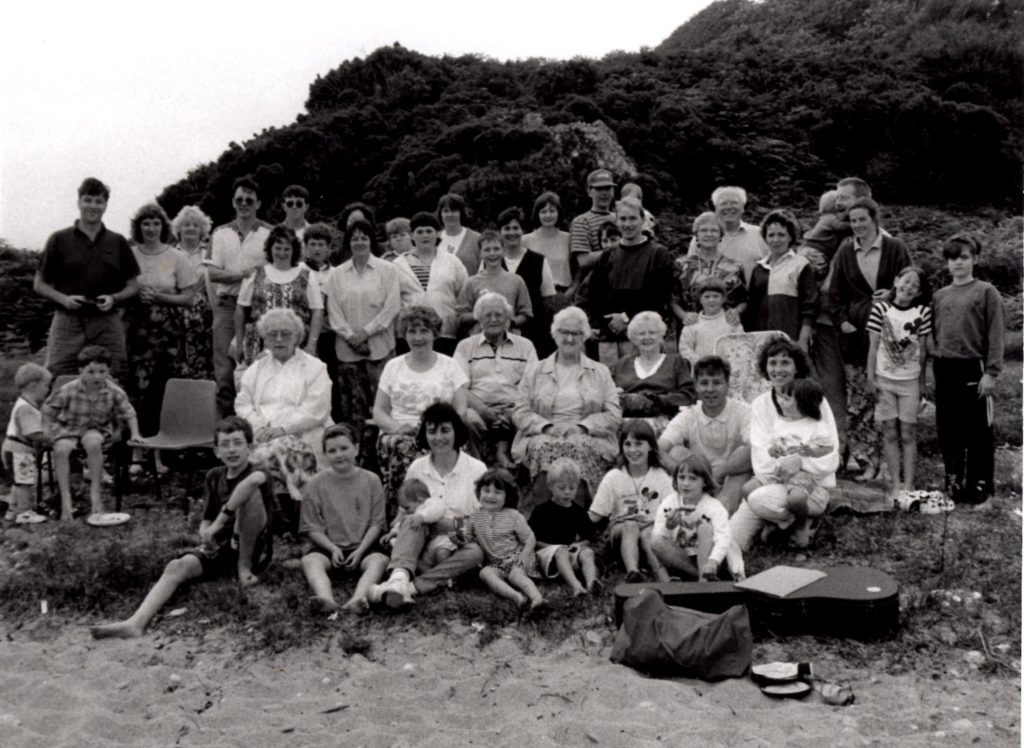 A trip to Saddell beach in 1996.