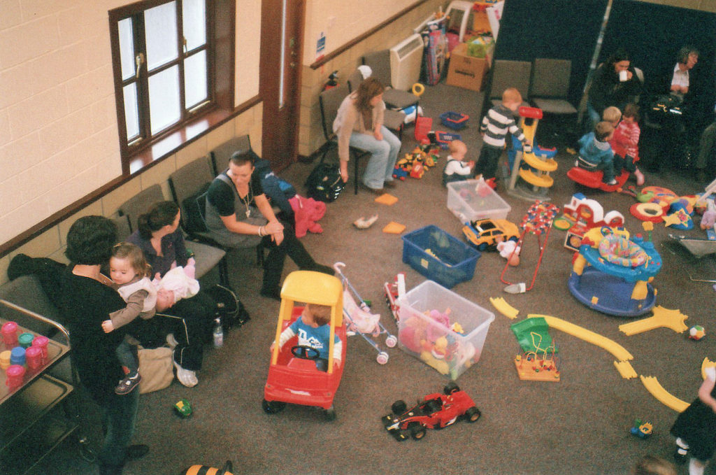Having fun at Jellytots toddler group in 2011.