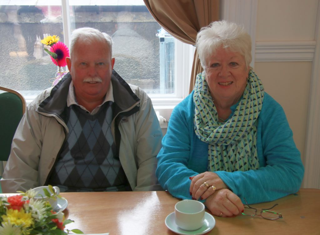 Mr and Mrs Angus from Lochgilphead enjoyed a cuppa.