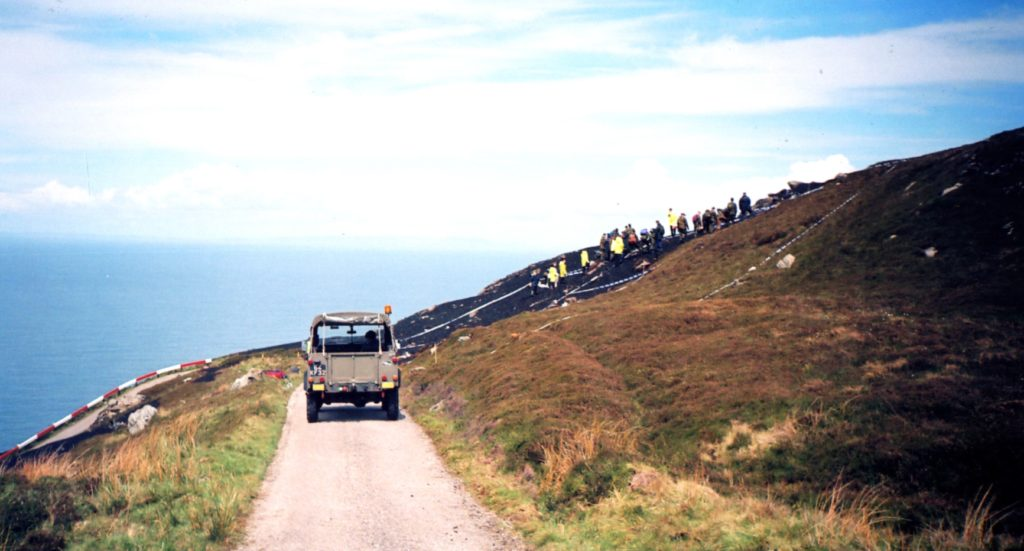 The scene at the Mull of Kintyre in the aftermath of the crash. Photo: Anne Cousin.