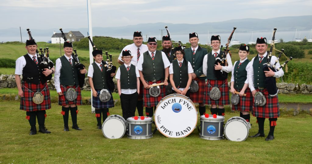 Loch Fyne Pipe Band played two sets during the day.