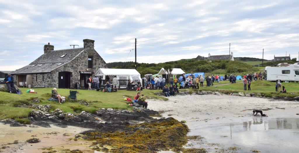 Gigha was packed with visitors during the festival weekend.